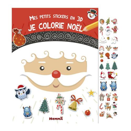 Album Mes petits stickers en 3D - Je colorie Noël
