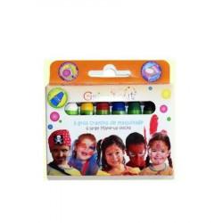 Boîte de 6 gros crayons de maquillage - Couleurs classiques