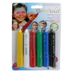 Blister de 6 crayons de maquillage à l'eau - Classique