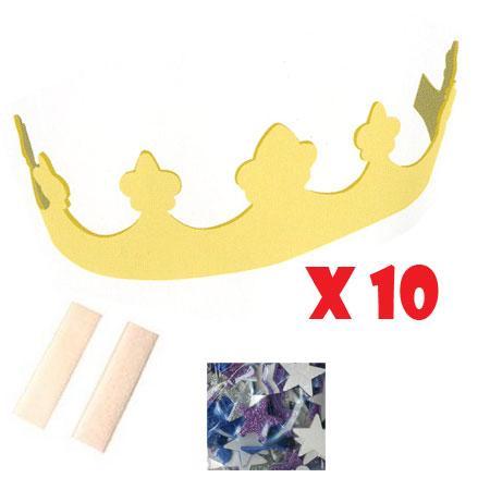 10 couronnes mousse à décorer