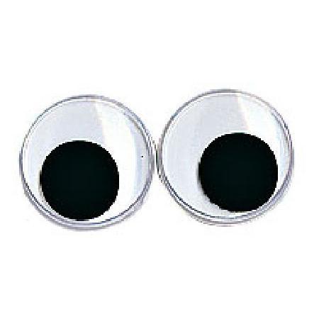 Yeux avec pupilles mobiles - Ronds noirs 10 mm