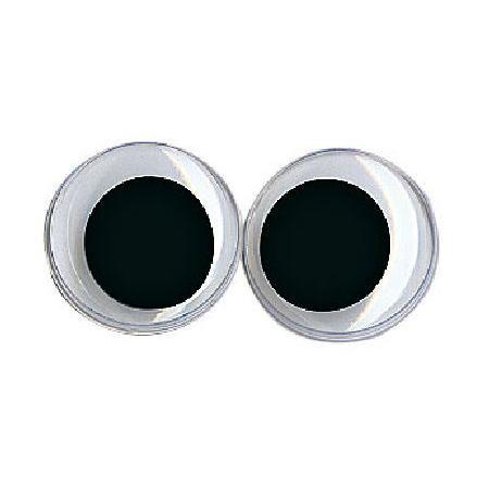 Yeux avec pupille mobile - Ronds noirs 15 mm