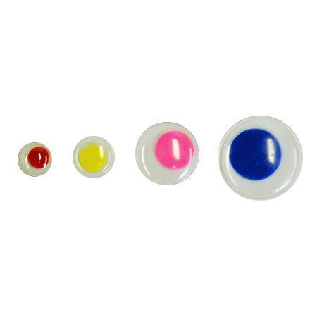 Yeux ronds mobiles - couleur - 75 pces