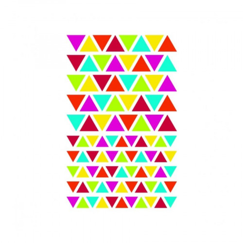 Initial Gommettes - Triangles - 4 planches