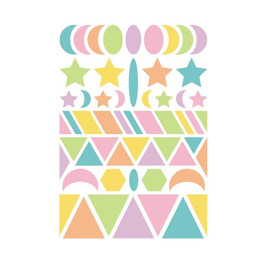 Gommettes Baby - Géométriques - Couleurs pastels - 282 pcs