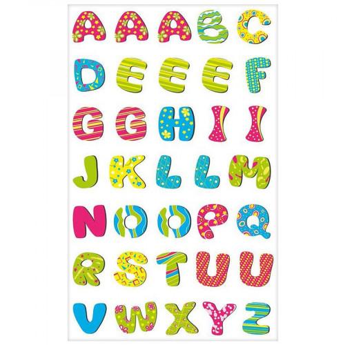 Gommettes à volume - Alphabet pep's - 35 pces