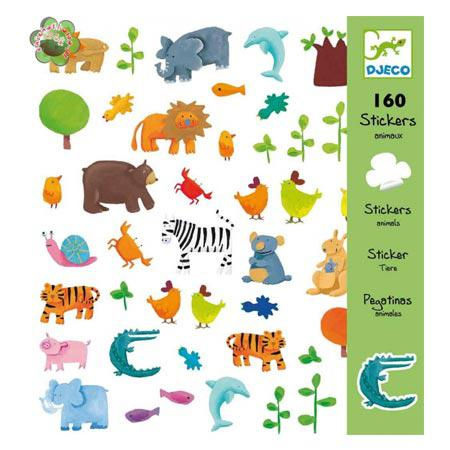 Stickers - Animaux - 160 pces