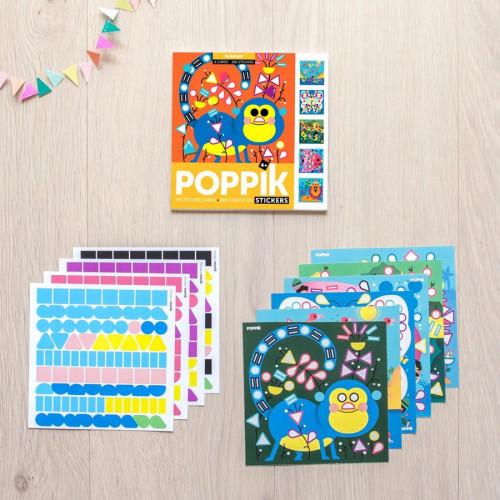 Mes cartes en stickers Animaux - 6 cartes en gommettes