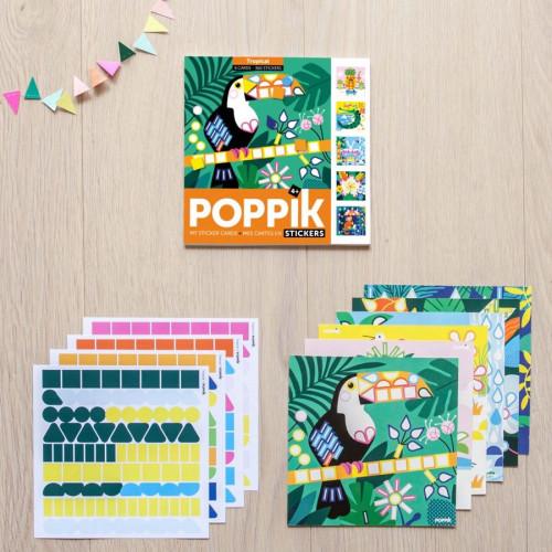Mes cartes en stickers Tropical - 6 cartes en gommettes