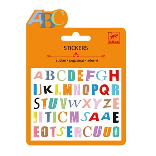 Mini Stickers - Lettres colorées - Finition Puffy