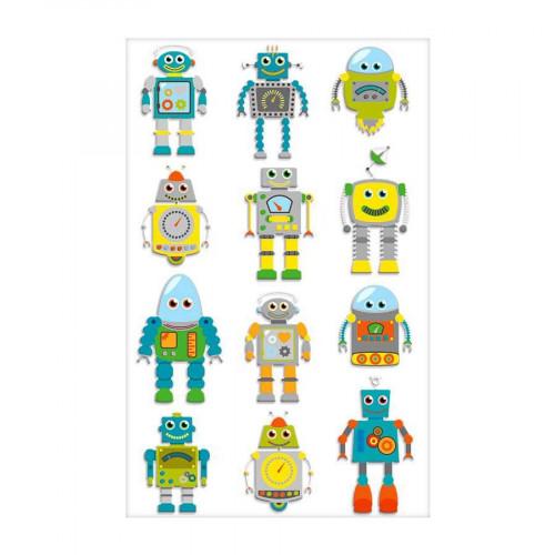 Stickers 3D - Cooky - Robots x 12