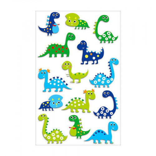 Stickers 3D - Cooky - Dinosaures x 14