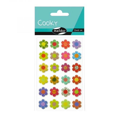 Stickers 3D - Cooky - Thème fleurs