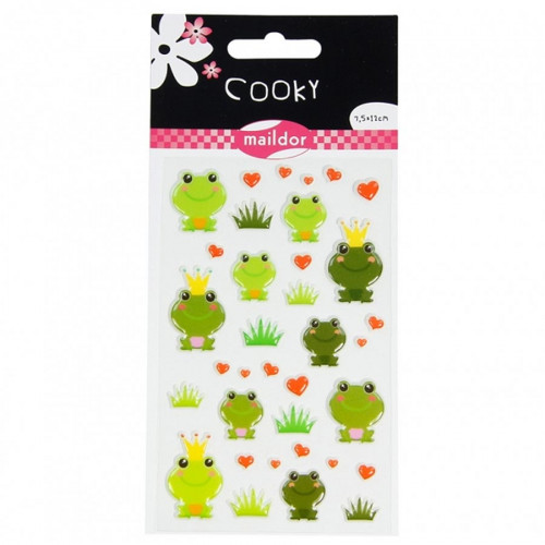 Stickers 3D - Cooky - Grenouilles