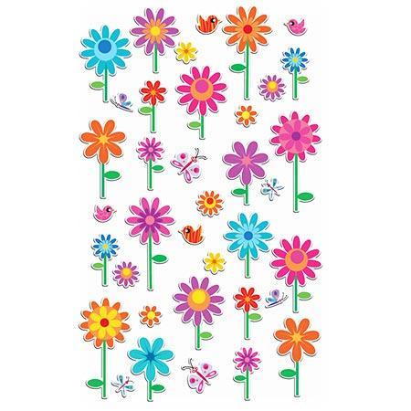 Gommettes à volumes - Fleurs x37