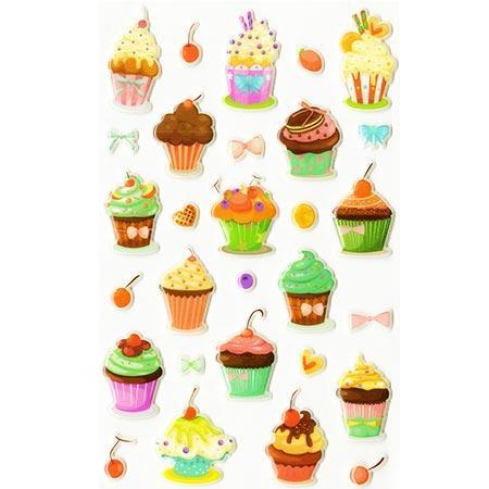 Gommettes à volumes - Cakes #2 x29