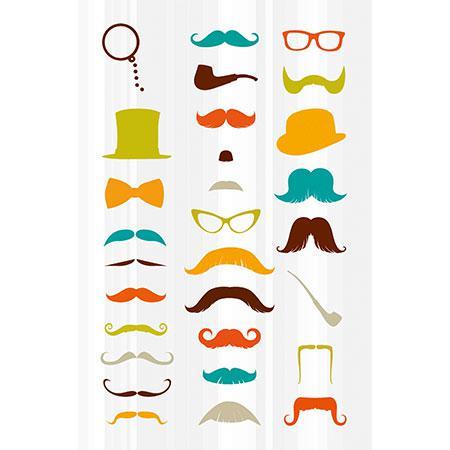 Gommettes à volume - Moustaches x 29 pièces