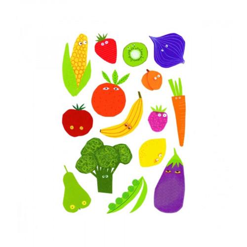 Gommettes Baby - Fruits et légumes - 87 pcs