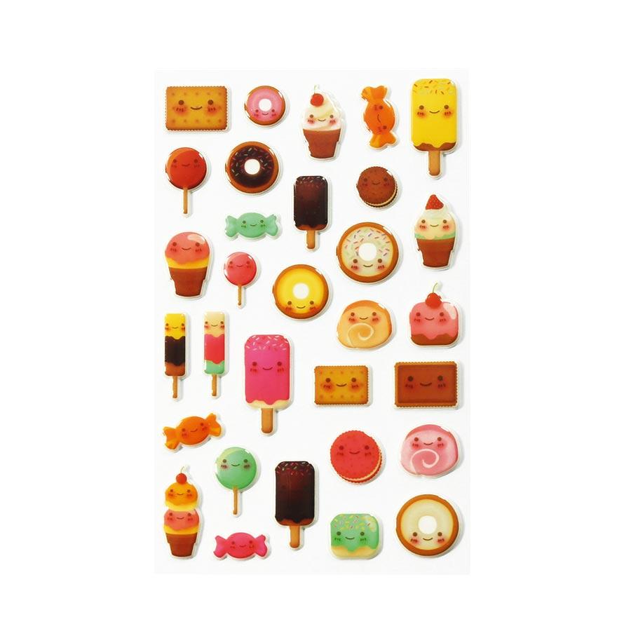 Stickers 3D - Cooky - Kawai Gourmandises x 33