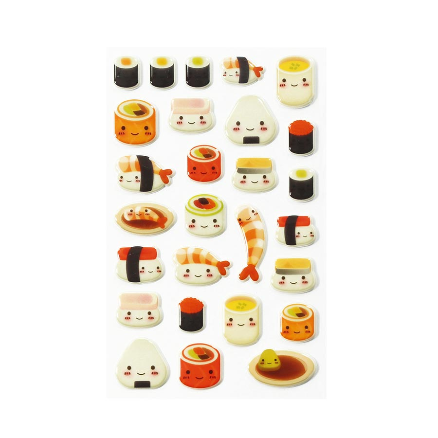 Stickers 3D - Cooky - Kawai Sushis x 28