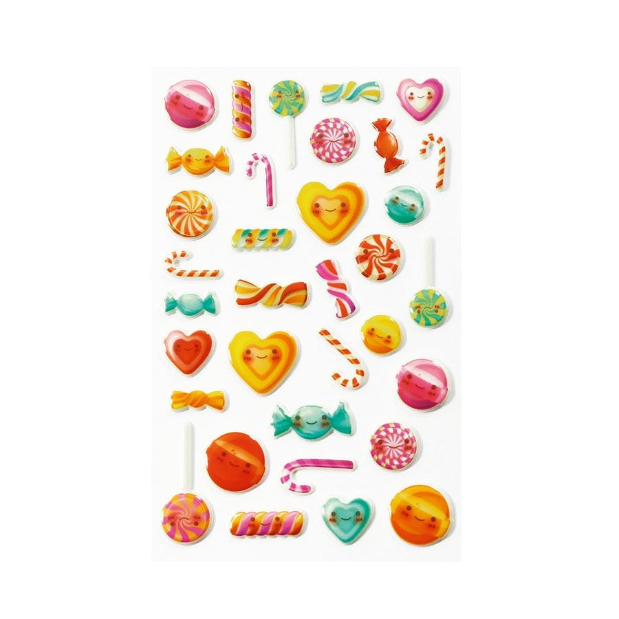Stickers 3D - Cooky - Kawai Bonbons x 34