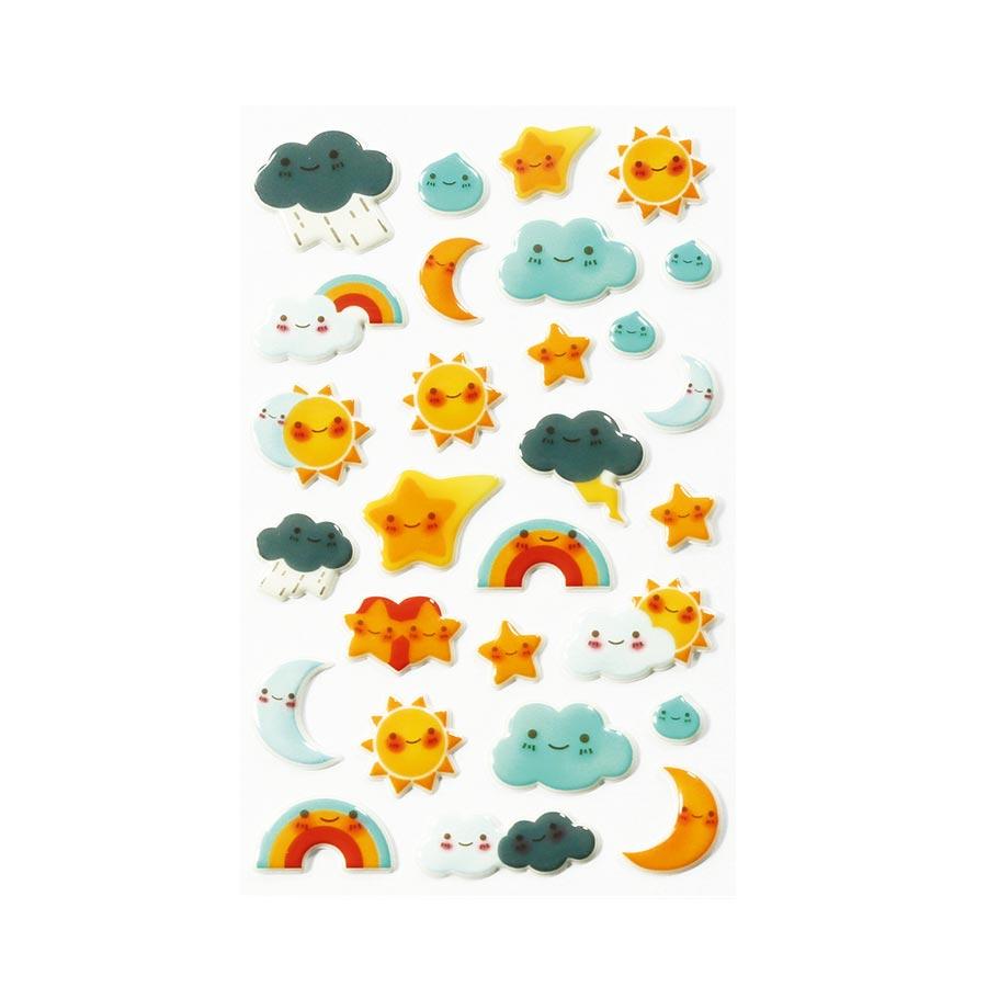 Stickers 3D - Cooky - Kawai Météo x 27