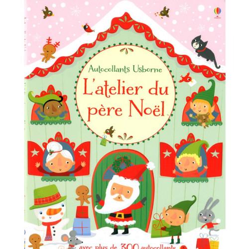 Livre L'atelier du père Noël - avec autocollants