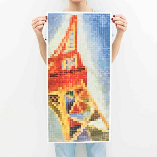 Sticker Poster La Tour Eiffel - 40 x 82 cm