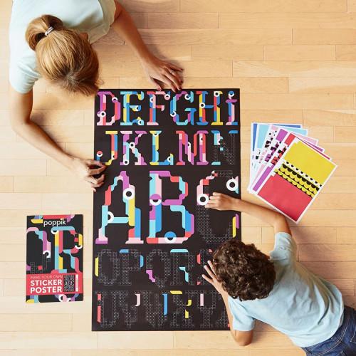 Sticker Poster Kids Alphabet - 60 cm x 1 m