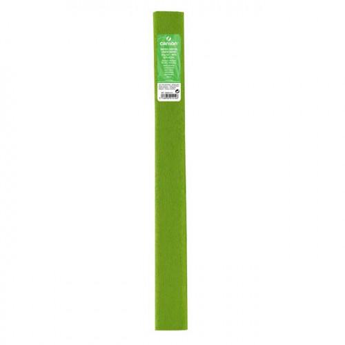 Papier crépon 32 g/m² - Vert printemps - 0,5 x 2,5 m