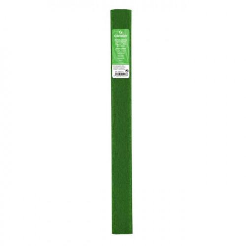 Papier crépon 32 g/m² - Vert fougère - 0,5 x 2,5 m