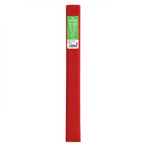 Papier crépon 32 g/m² - Rouge vif - 0,5 x 2,5 m