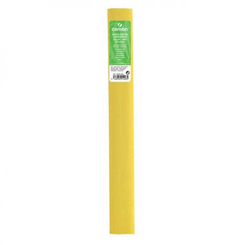Papier crépon 32 g/m² - Jaune paille - 0,5 x 2,5 m