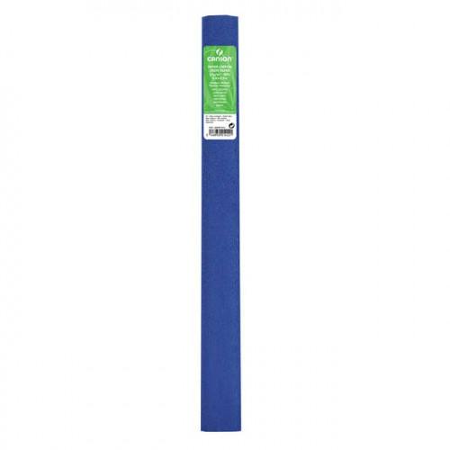 Papier crépon 32 g/m² - Bleu exotique - 0,5 x 2,5 m