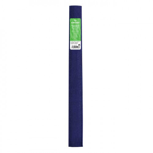 Papier crépon 32 g/m² - Bleu Outremer - 0,5 x 2,5 m