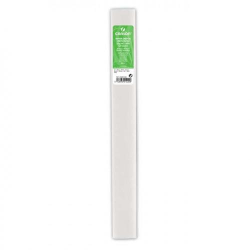 Papier crépon 32 g/m² - Blanc - 0,5 x 2,5 m