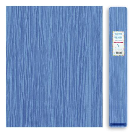 Papier crépon 32 g - Bleu ciel - 2,5 x 0,5 m