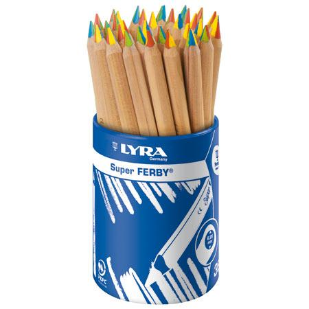 Lyra Super Ferby 4 couleurs Nature - Crayon mine 4 couleurs - Ø 10 mm