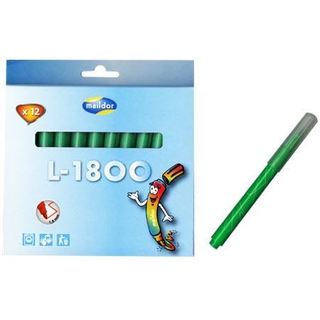 Pochettes 12 feutres - L1800 - Vert