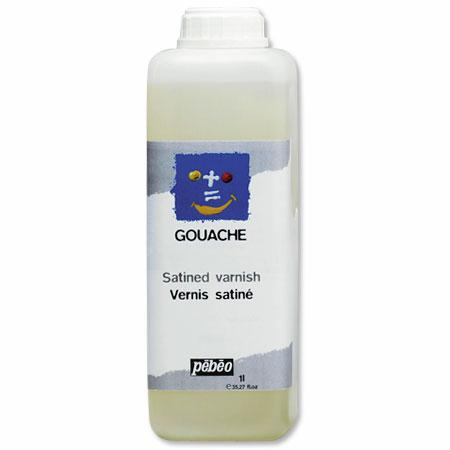 Vernis gouache à l'eau satiné - 1 L