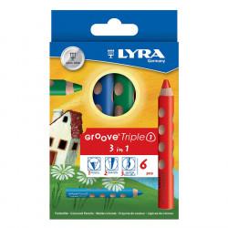 Etui accroche de 6 crayons de couleur Lyra