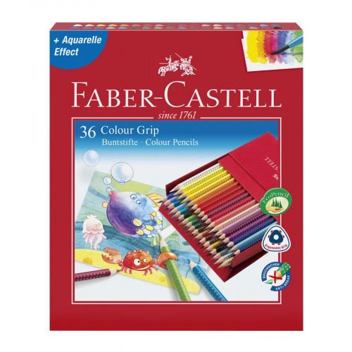 Colour Grip Studio Box - 36 crayons de couleur Aquarelle et Effet