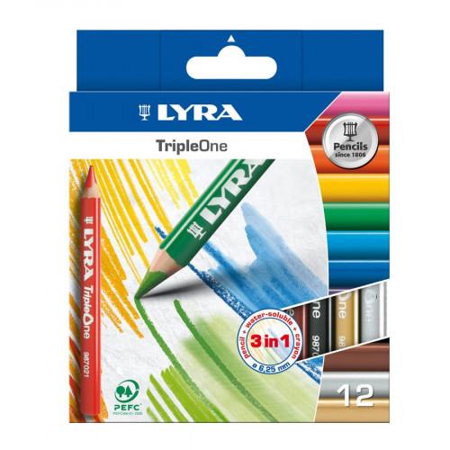 Crayons de couleur TripleOne - 12 pcs