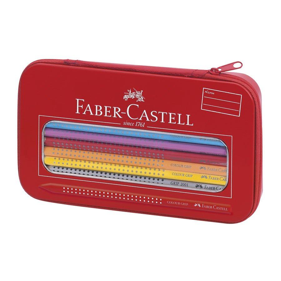 Colour Grip Set Arc-en-Ciel - Crayons de couleur aquarellables + Trousse