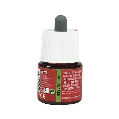 Encre végétale rouge - 45 ml