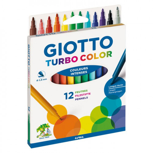 Lot de 12 feutres Turbo Color
