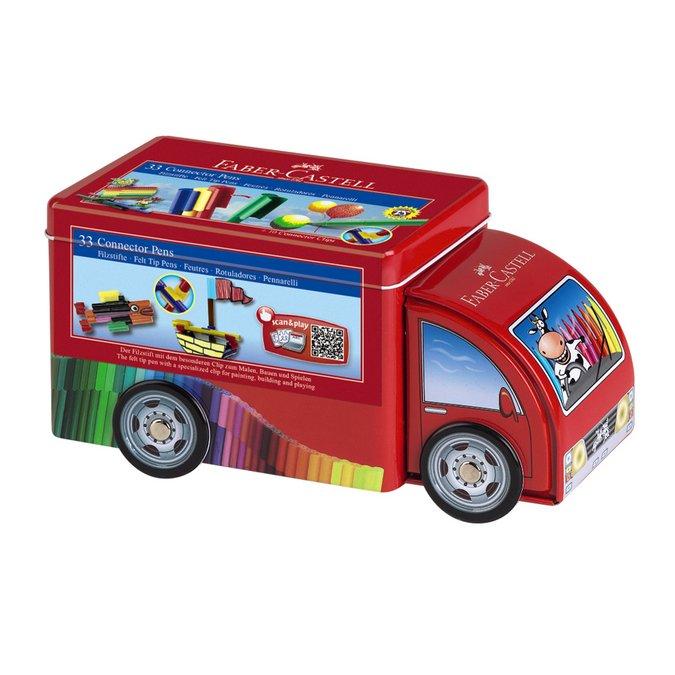 Boîte Camion avec 33 feutres Connector