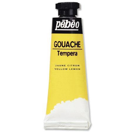 Gouache en tube - Jaune citron 10 ml - couleur 112