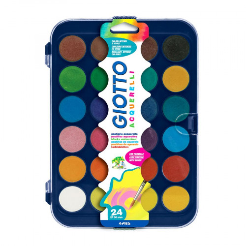 Boîte de 24 pastilles de 30 mm de gouache