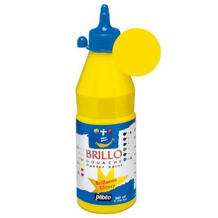 Brillo - Gouache - Jaune primaire 500 ml - couleur 02